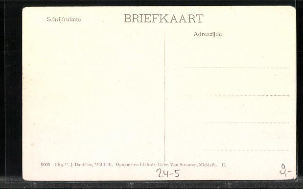 AK Oud-Vossemeer, Watervloed in Zeeland, Hochwasser im März 1906 1