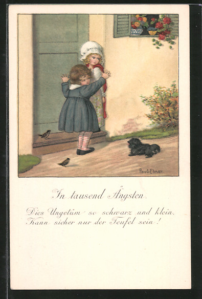 Künstler-AK Pauli Ebner: Mädchen