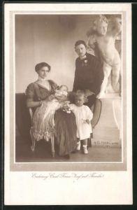 AK Erzherzog Carl Franz Josef von Österreich mit Familie
