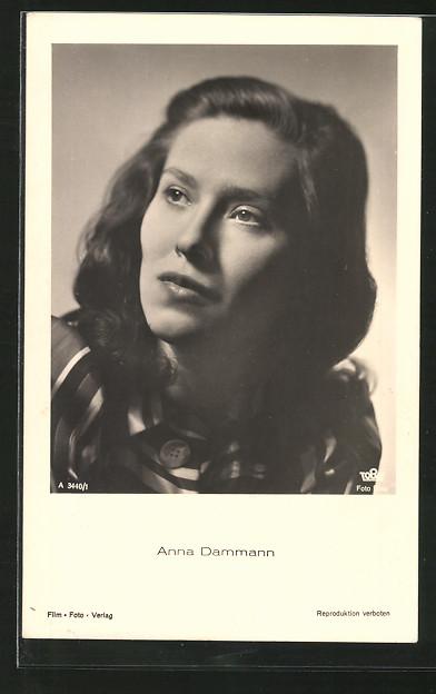 AK Schauspielerin Anna Dammann zur Seite blickend