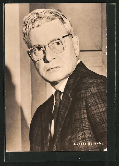 AK Schauspieler Dieter Borsche im Anzug porträtiert