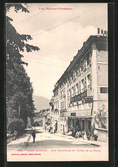 AK Eaux-Bonnes, Rue Principale et Hôtel de la Poste