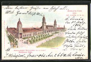 AK St. Louis, World's Fair 1904, Machinery Building