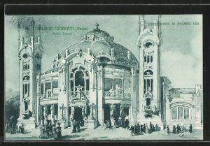Künstler-AK Milano, Esposizione di Milano 1906, Salone Concerti