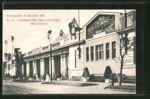 AK Milano, Esposizione di Milano 1906, Padiglione dell'Austria