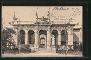 AK Milano, Esposizione di Milano 1906, Padiglione Cittá di Milano