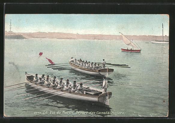 AK Serie: La Vie du Marin, départ des canots-majors