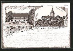 Lithographie Selkethal, Gasthaus