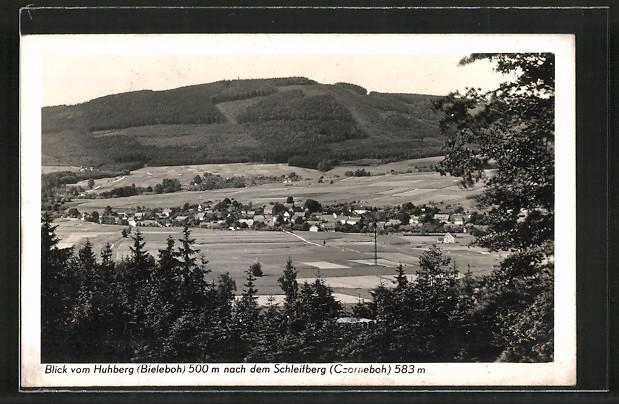 AK Beiersdorf, Blick vom Huhberg nach dem Schleifberg über den Ort