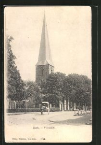 AK Vorden, Kerk, Strassenpartie mit Kirche 0