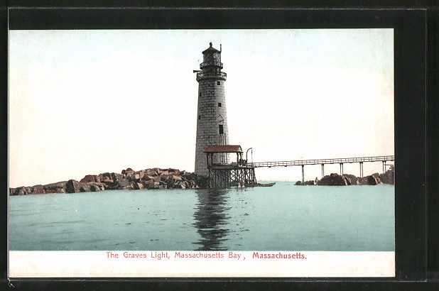 AK Massachusetts Bay, MA, The Graves Light, Leuchtturm 0