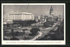 AK Buenos Aires, Plaza del Congreso, Caja Nacional de Ahorro Postal y Congreso Nacional