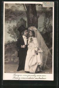 AK Puisque vous possédez mon coeur..., Kinder als Brautpaar