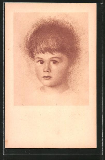 Künstler-AK Walter Schachinger: Portrait eines Kindes