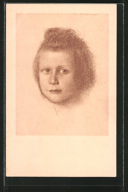 Künstler-AK Walter Schachinger: Portrait eines Mädchens