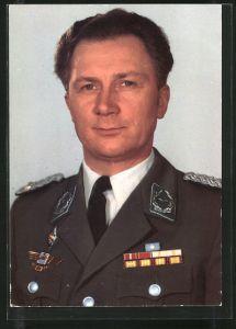 AK Gemeinsamer Kosmosflug UdSSR/DDR, Sigmund Jähn in Uniform