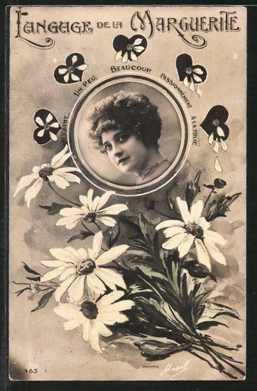 AK Langage de la Marguerite, Blumensprache