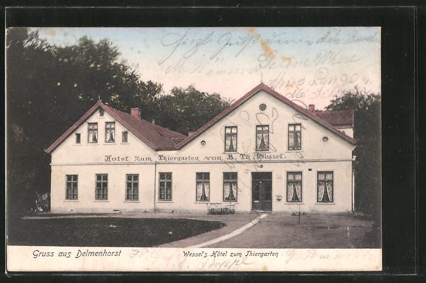 Litho delmenhorst in niedersachsen hotel zum tiergarten for Delmenhorst hotel