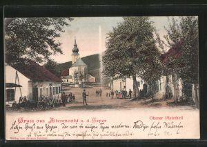 AK Altenmarkt an der Ysper, Oberer Platzheil, Blick zur Kirche