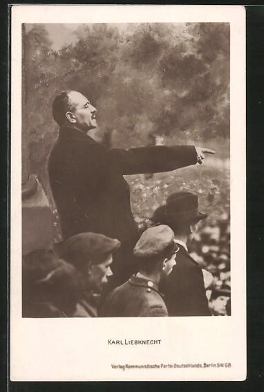 AK Marxist Karl Liebknecht bei einer Rede
