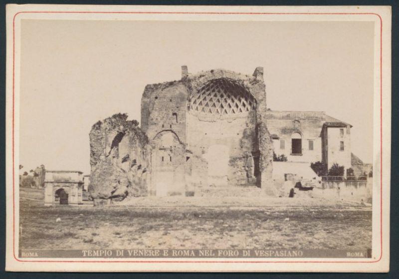 Fotografie Fotograf unbekannt, Ansicht Roma-Rom, Vespasians-Tempel, Tempio Di Venere E Roma Nel Foro Di Vespasiano