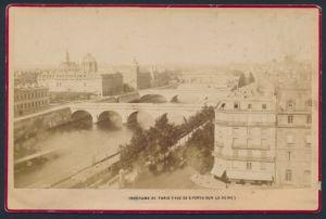 Fotografie Fotograf unbekannt, Ansicht Paris, Panorama, Vue De 8 Ponts Sur La Seine