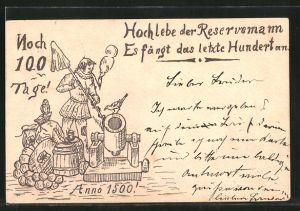 AK Hoch lebe der Reservemann..., Kanonier anno 1500