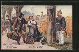 Künstler-AK Arthur Thiele: Hamster-Erlebnisse, Die Hamsterfalle!, Scherz