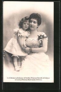 AK S.A.R. Madame La Duchesse de Vendome Princess Henriette de Belgique et Princesse Marie-Louise d'Orleans