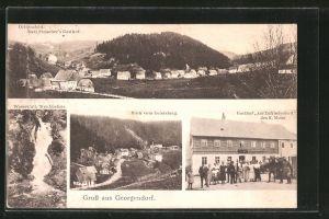AK Georgendorf, Ortsansicht, Gasthof