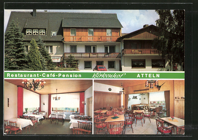 AK Lichtenau-Atteln, Restaurant-Cafe-Pension