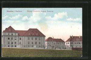 AK Glauchau, Blick auf die König Friedrich August Kaserne