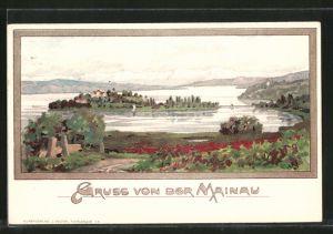 Künstler-AK Karl Mutter: Insel Mainau, Panorama
