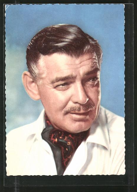 AK Schauspieler Clark Gable zur Seite blickend