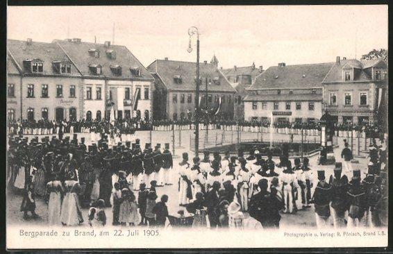AK Brand, Blick auf die letzte Bergparade am 22.07.1905