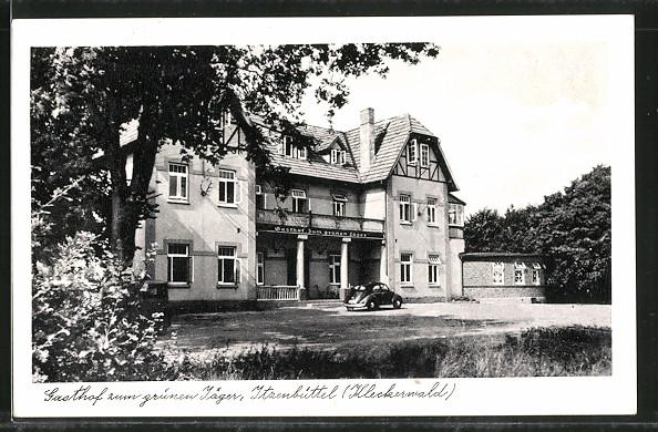 AK Itzenbüttel, Gasthof zum grünen Jäger