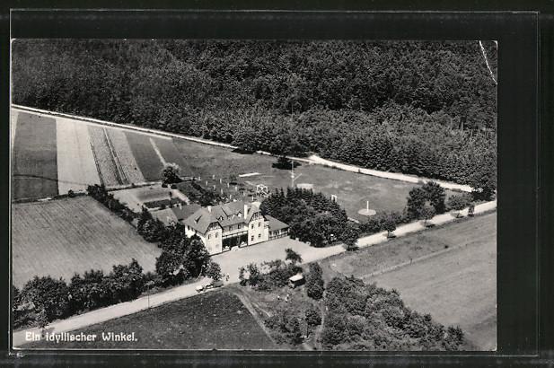 AK Itzenbüttel, Blick auf den Gasthof