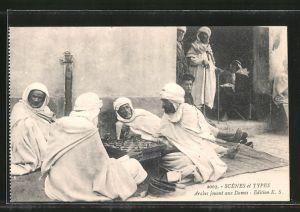AK Arabes jouant aux Dames, Nordafrikaner spielen Dame