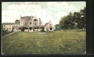 AK Wichita, KS, Masonic Home, Freimaurer-Loge