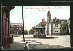 AK Martinsburg, WV, View of Public Square and Country Court House