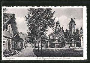 AK Brückenberg, Kirche Wang mit Pfarrhaus