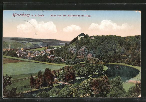 AK Hirschberg, Blick von der Kaiserhöhe