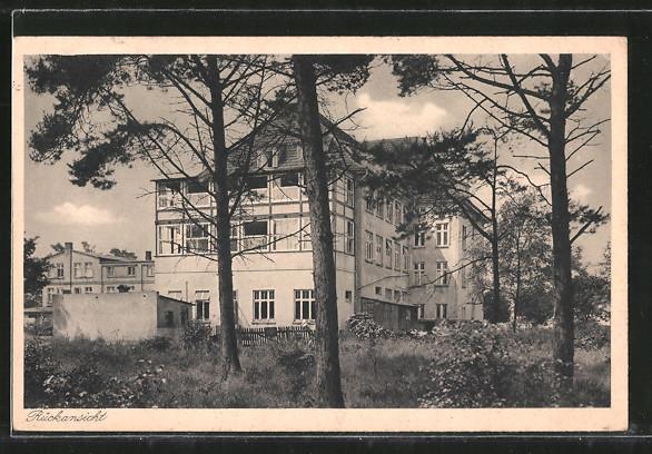 AK Müritz, Genesungsheim Lindenhof, Rückansicht