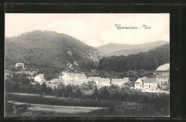 AK Winterstein, Ortsansicht vom Hügel aus
