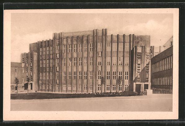 AK Reichenbach, Blick zur Höheren Textilfachschule