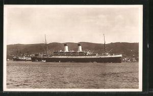 AK Passagierschiff Monte Sarmiento, Gesamtansicht