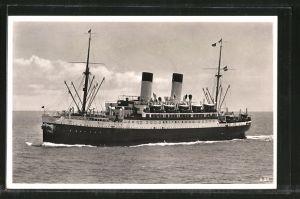 AK Passagierschiff MS Monte Sarmiento unterwegs