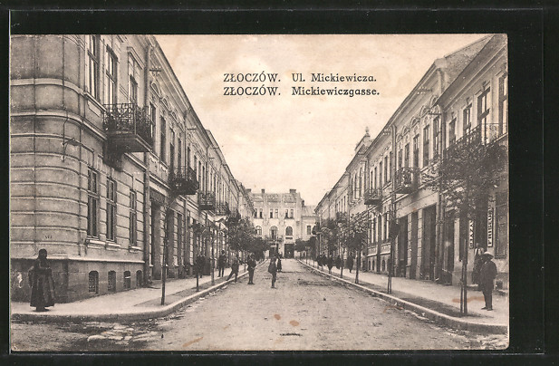 AK Zloczów, Mickiewiczgasse, Ul. Mickiewicza
