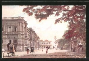 AK Colombo, General Post Office, Entrance to Queens House