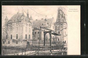 AK Oosterbeek, Kasteel Doorwerth, Burg mit Zugbrücke